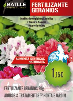 Fertilizante Gerânios