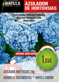 Azulador Hortênsias