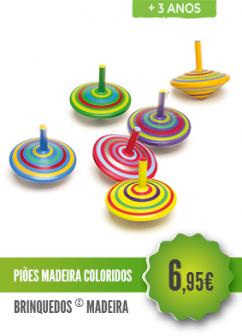Piões Madeira