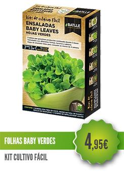 Folhas Baby Salada Verde
