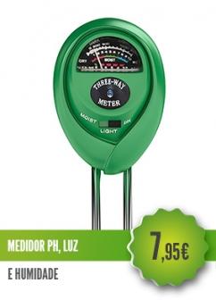 Medidor pH Luz Humidade