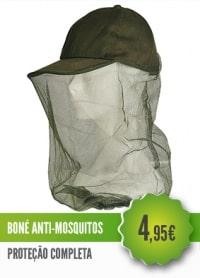 Boné Anti Mosquitos