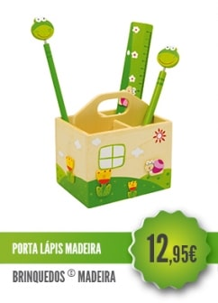 Porta Lápis Madeira
